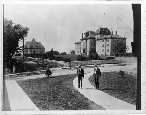 Campus scene, University of Kansas, Lawrence - Page