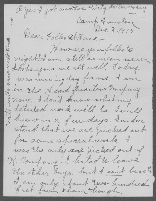 Clyde Phares Moot, World War I soldier - Page