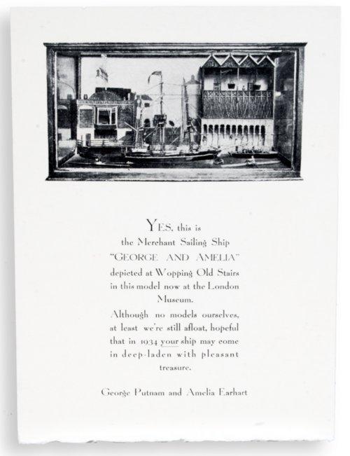 Amelia Earhart Christmas card - Page