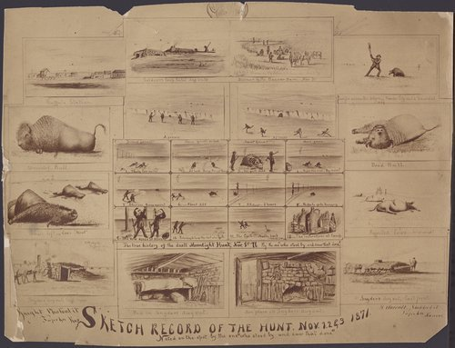 Sketch record of the hunt. Nov. 1,2 & 3 1871. - Page