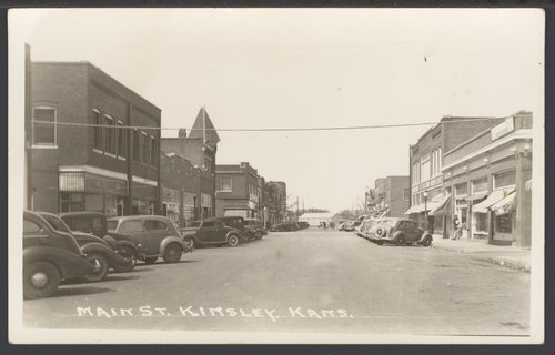 Sixth street in Kinsley, Kansas - Page