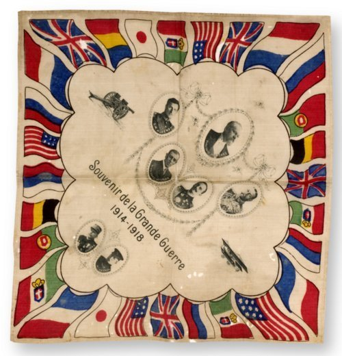 World War I souvenir scarf - Page