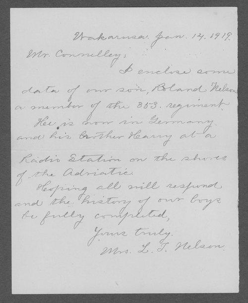 Roland Nelson, World War I soldier - Page