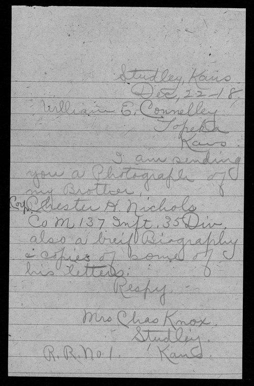Chester H. Nichols, World War I soldier - Page