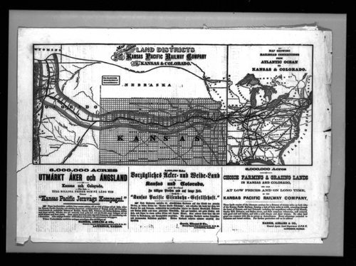 Map showing land districts of the Kansas Pacific Railway Company - Page