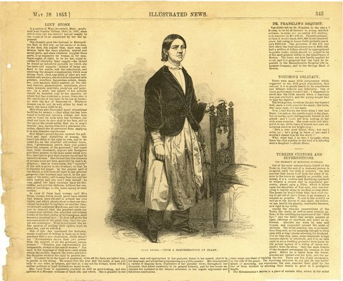 Engraving of and information about  Lucy Stone - Page
