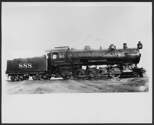 Atchison, Topeka and Santa Fe Railway Company's steam locomotive #888 - Page