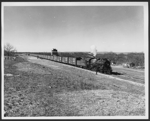 Atchison, Topeka & Santa Fe Railway Company's steam locomotive #3212, Winfield, Kansas - Page
