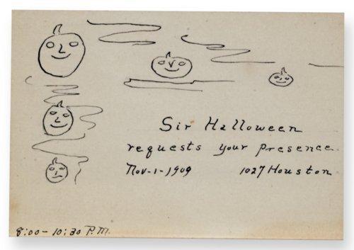Halloween invitation - Page