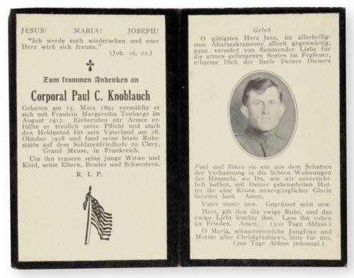 Memorial card - Page