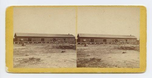 Depot at Topeka, Kansas. 351 miles west of St. Louis Mo. - Page