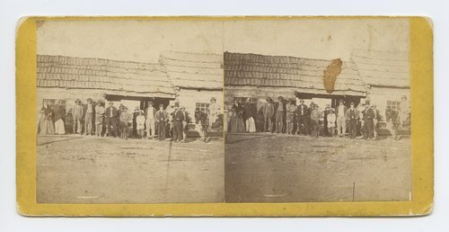 Potawatomie Indians at St. Mary's Mission, Kansas. 375 miles west of St. Louis Mo. - Page