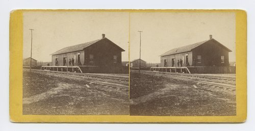Depot at Wamego, Kansas. 388 miles west of St. Louis Mo. - Page
