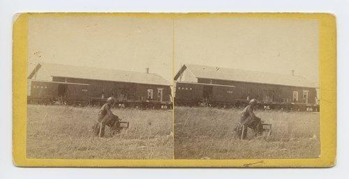 Depot Manhattan, Kansas. 402 miles west of St. Louis Mo. - Page