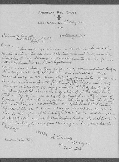 William Logan Carlyle, World War I soldier - Page
