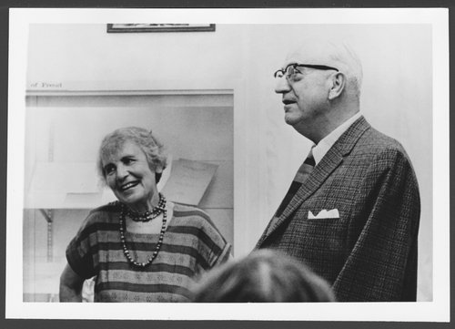 Anna Freud and Dr. Karl Menninger and Dr. Bob Menninger - Page