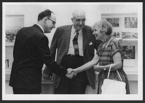 Anna Freud and Dr. Karl Menninger and Dr. Bob Menninger - Page