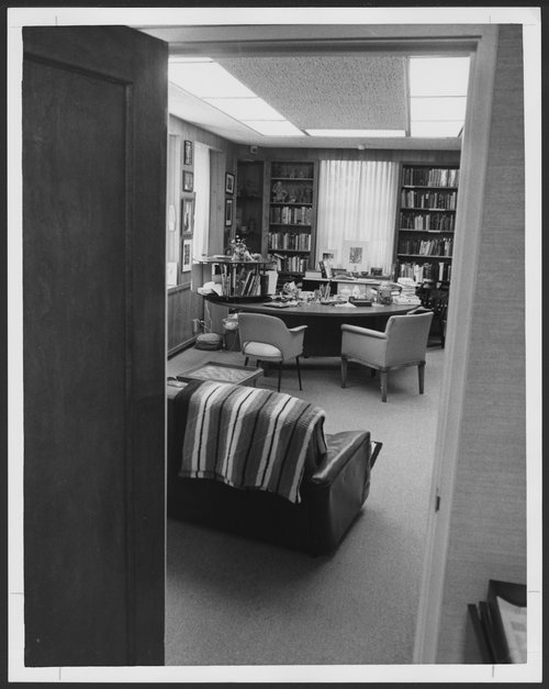 Dr. Karl Menninger's office in Menninger Clinic at Topeka, Kansas - Page