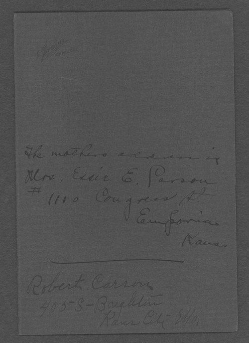 Robert Carson, World War I soldier - Page