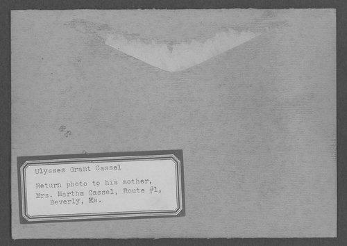 Ulysses Grant Cassel, World War I soldier - Page
