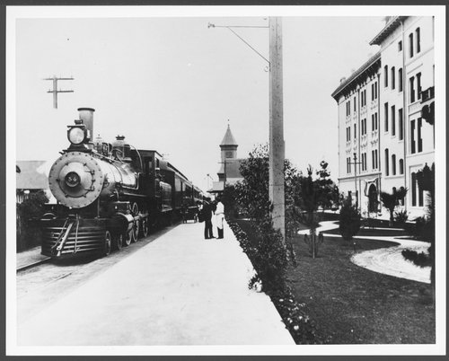Atchison, Topeka & Santa Fe Railway Company's steam engine #54, Pasadena, California - Page