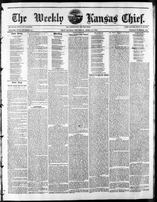 Weekly Kansas chief - Page