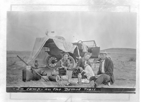 In camp on the Dumas Trail - Page
