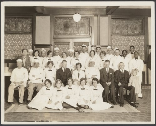 Atchison, Topeka & Santa Fe Railway Company's Fred Harvey House staff, Wellington, Kansas - Page