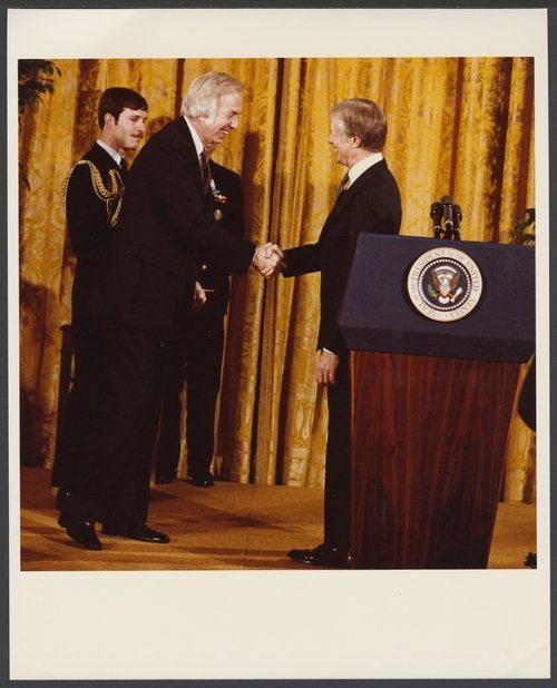 President Jimmy Carter and Roy Menninger, M.D. - Page