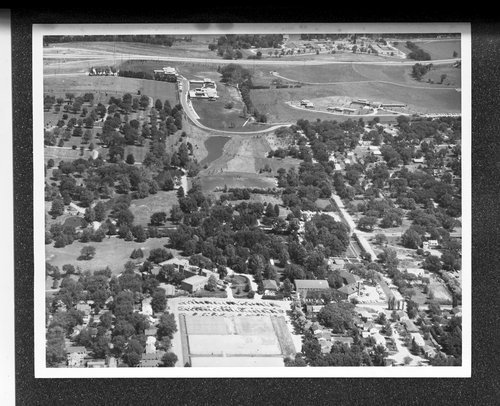 Aerial view of the Menninger Foundation in Topeka, Kansas, 1962 - Page