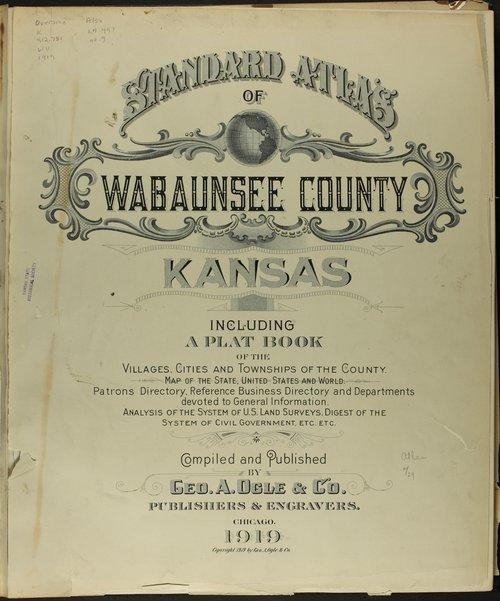 Standard atlas of Wabaunsee County, Kansas - Page