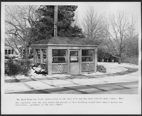 Menninger Foundation bus stop shelter in Topeka, Kansas - Page
