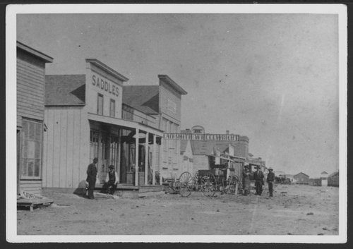 North side of Front Street looking east, Dodge City, Kansas - Page