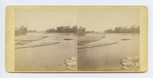 View on Kansas River at Manhattan, Kansas. 402 miles west of St. Louis Mo. - Page