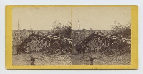 Trestle bridge near Abilene, Kansas. 447 miles west of St. Louis Mo. - Page