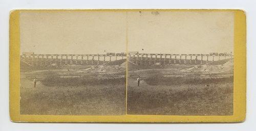 Trestle bridge near Fort Harker, Kansas. 500 miles west of St. Louis Mo. - Page