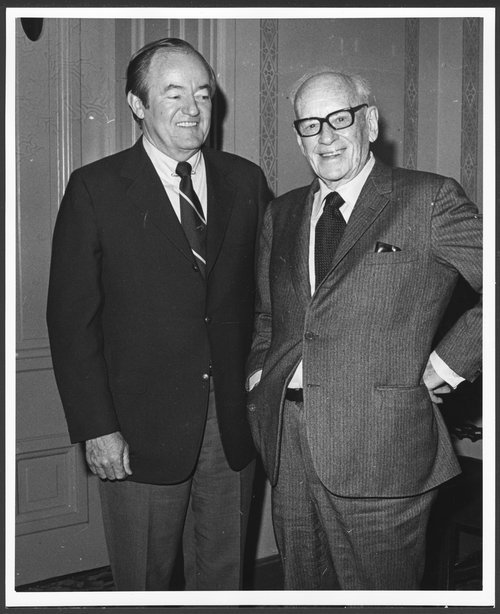 Alfred Mossman Landon and Senator Hubert H. Humphrey - Page