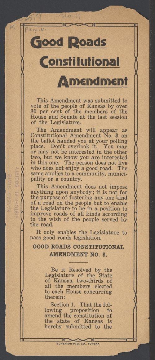 Good Roads Constitutional Amendment - Page