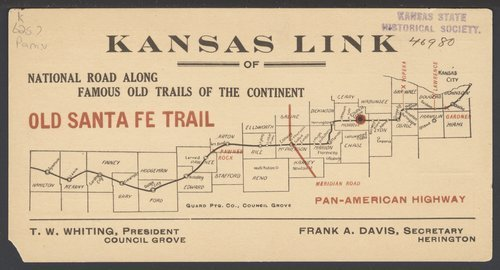 Kansas Link of National Road Along Famous Old Trails of the Continent - Page