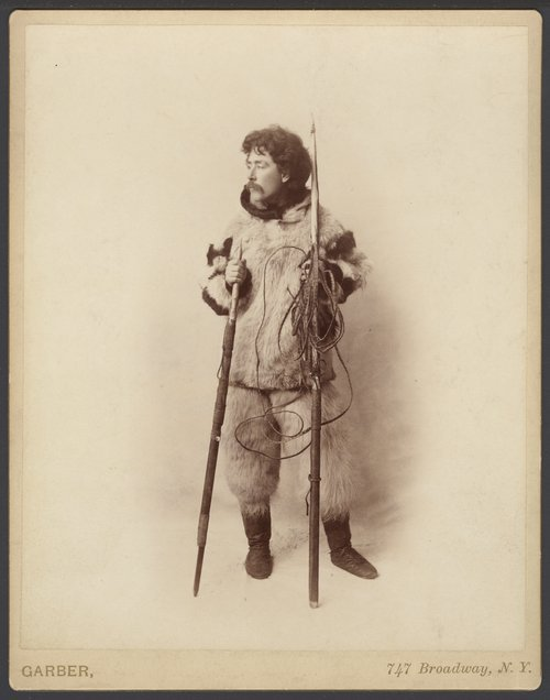 Lewis Lindsay Dyche with his harpoon equipment - Page