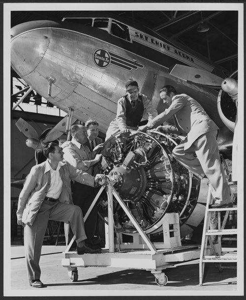 Atchison, Topeka & Santa Fe Railway Company's skyway aricraft, Los Angeles, California - Page