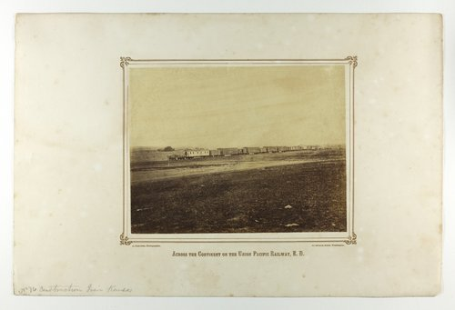 Construction train west of Hays, Kansas - Page
