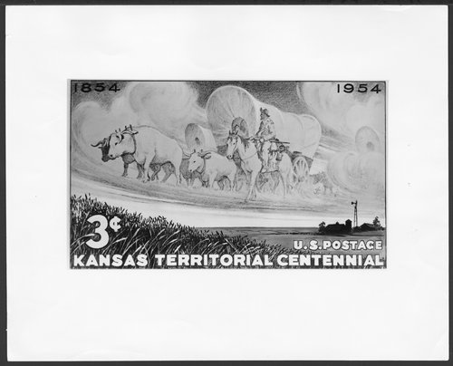 Kansas Territorial Centennial stamp - Page