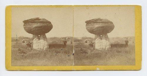 Mushroom Rock on Alum Creek, Kansas. 7 Miles east of Fort Harker & 496 miles west of St. Louis Mo. - Page