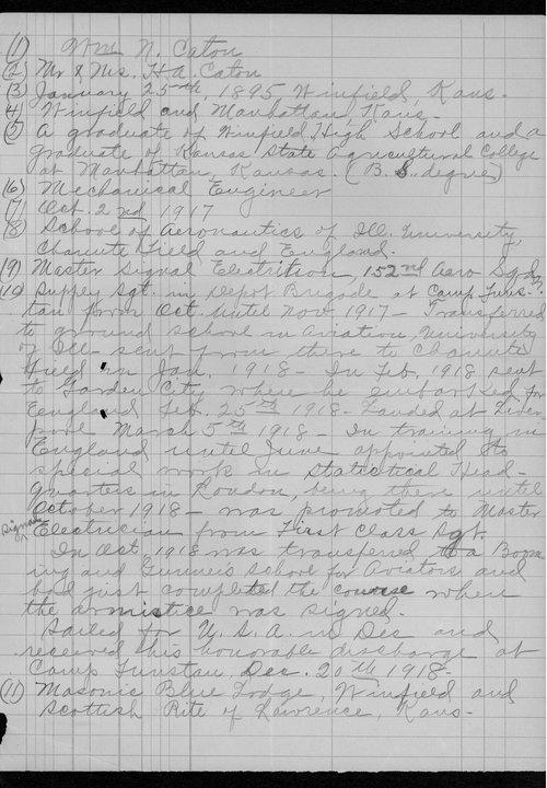 William N. Caton, World War I soldier - Page