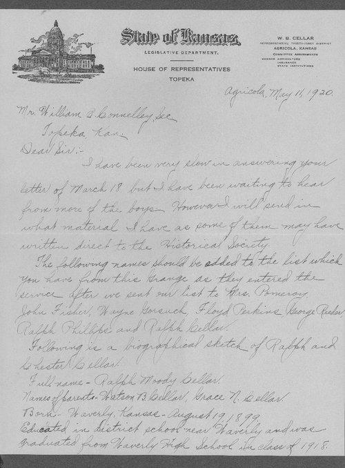 Ralph Moody Cellar, World War I soldier - Page