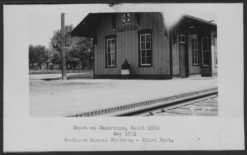 Atchison, Topeka & Santa Fe Railway Company depot, Cambridge, Kansas - Page