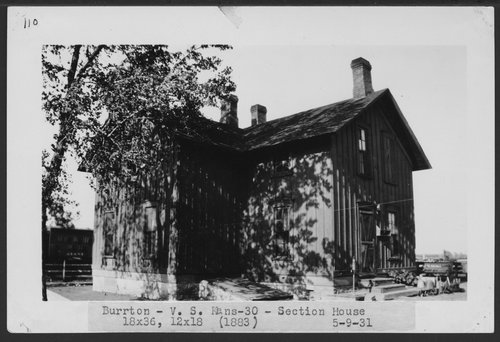 Atchison, Topeka & Santa Fe Railway Company section house, Burrton, Kansas - Page