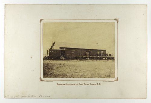Railroad cars at the depot in Manhattan, Kansas - Page