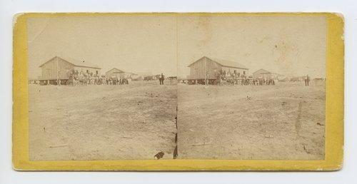 Depot, Ellsworth Kansas. 508 miles west of St. Louis, Mo. - Page